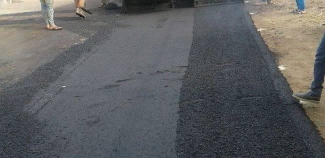 الانتهاء من أعمال توسعة ورصف مدخل قرية الناصرية في دمياط