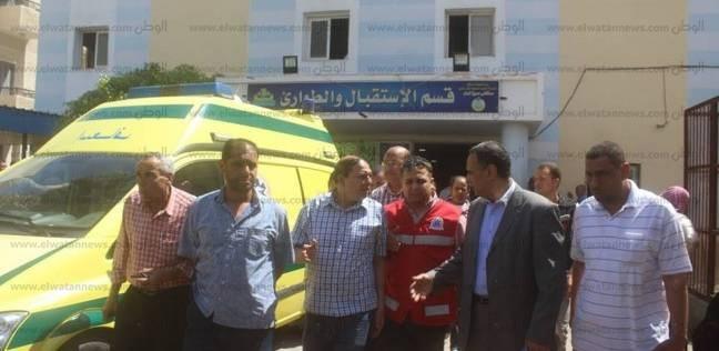 مصرع أمين شرطة وإصابة شخص في حادث تصادم سيارتين ملاكي بأسيوط