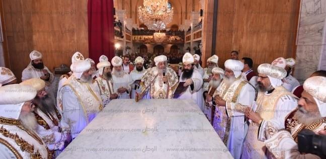 البابا تواضروس يترأس قداس تدشين كنيسة جديدة في الشروق