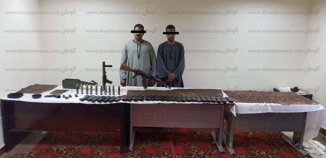 ضبط قاذف وأسلحة آلية و2000 طلقة في خصومة بالبدارى في أسيوط