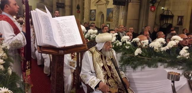 """البابا """"تواضروس الثاني"""" يستقبل قيادات الإسكندرية للتهنئة بعيد الغطاس"""