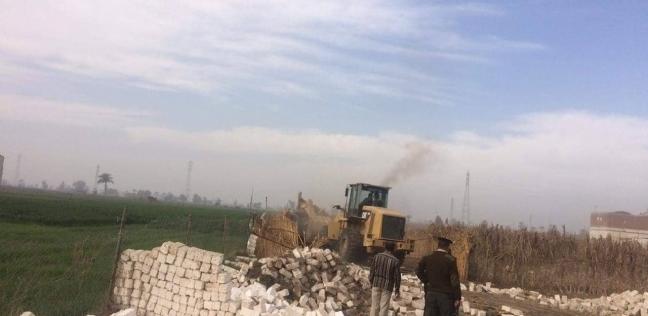 إزالة 125 حالة تعد على الأراضي الزراعية بالمنيا