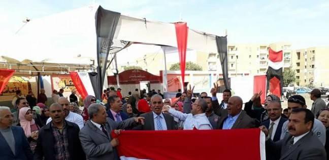بالفيديو| مسيرة بجاردن سيتي لدعوة المواطنين للمشاركة في الانتخابات