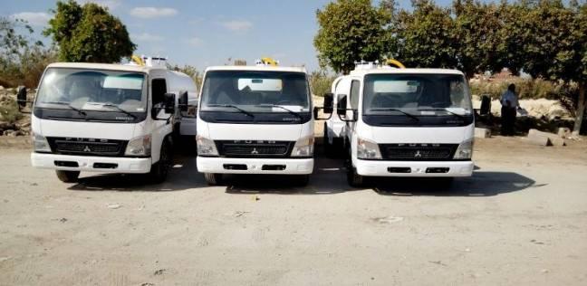 تسليم 3 سيارات كسح لدعم منظومة النظافة في القليوبية