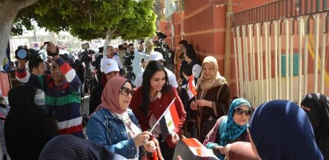 برلمانية ببورسعيد: كثافة التصويت رسالة حب من المصريين لبلدهم