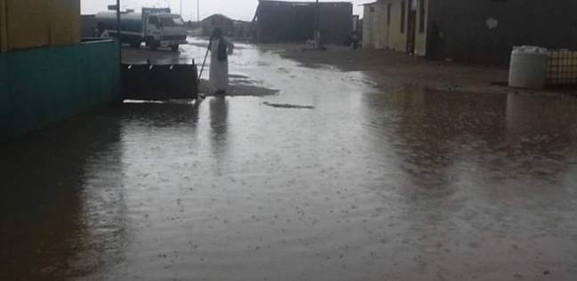 سقوط أمطار غزيرة في حلايب وشلاتين