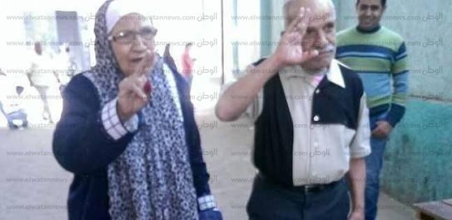 """""""أمين وفوزية""""..  جمعهما حب عبدالناصر.. وحياتهما تكتمل بانتخاب السيسي"""