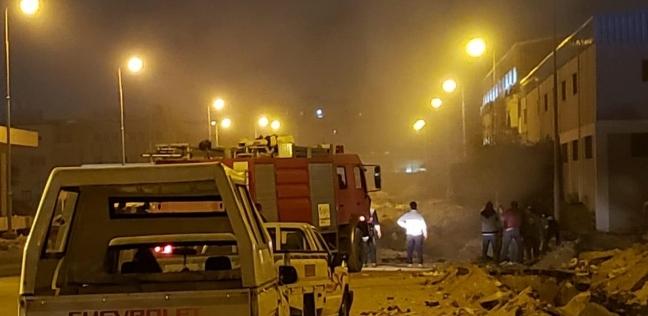 بالصور  كسر خط غاز في المنطقة الحرة بمدينة نصر