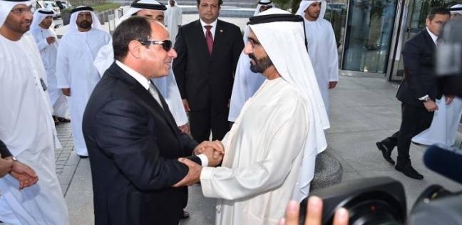 الرئيس السيسي يلتقي محمد بن راشد في مستهل زيارته للصين