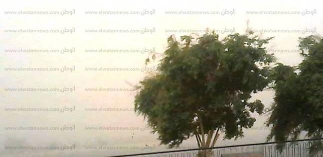توقف الحركة من وإلى مطار أسوان بسبب عاصفة ترابية
