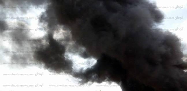 إخماد حريق شب بكشكين بسور الإدارة التعليمية في المنيا