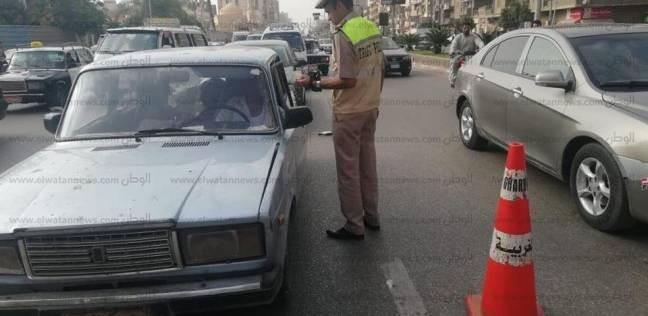 تحرير 1105 مخالفاتمرورية وتحصيل 58 ألف جنيه في حملة أمنية بالغربية