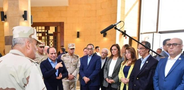 صور.. السيسي يتفقد مجمع منشآت جامعة الملك سلمان في شرم الشيخ