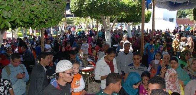8839f44857a46 بدء توافد المواطنين على الحدائق والمتنزهات بأسيوط احتفالا بشم النسيم