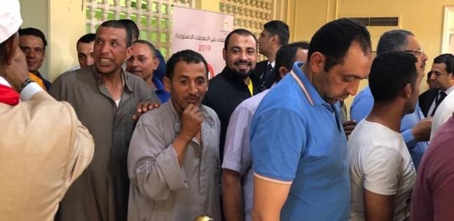 بالصور  الناخبون المصريون في الكويت يهتفون للسيسي