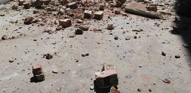إصابة شخص في انهيار جزئي لعقار وسط الإسكندرية