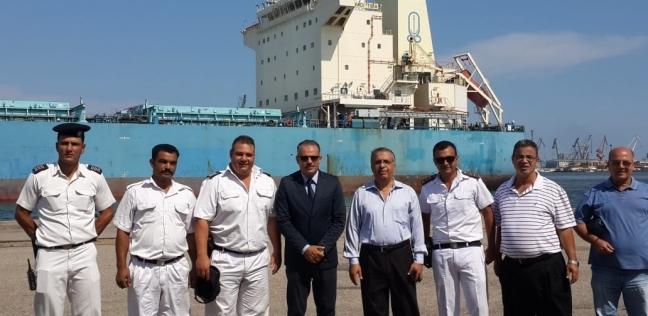 """ميناء غرب بورسعيد يستقبل سفينة """"وادي طيبة"""" محملة بـ63 ألف طن قمح روسي"""