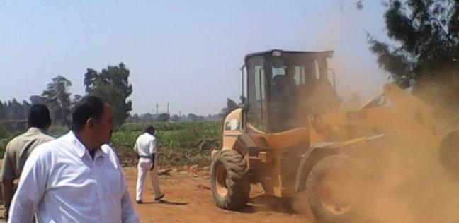 إزالة تعديات على 3550 متر أملاك الدولة في بسيون بالغربية