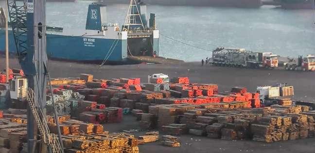 105 آلاف رصيد صومعة الحبوب والغلال للقطاع العام بميناء دمياط