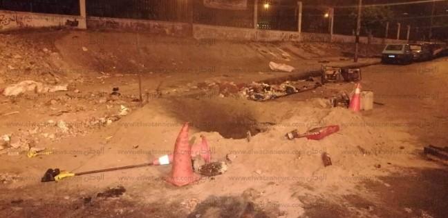 كسر ماسورة يتسبب في انقطاع المياه عن 4 مناطق غرب الإسكندرية