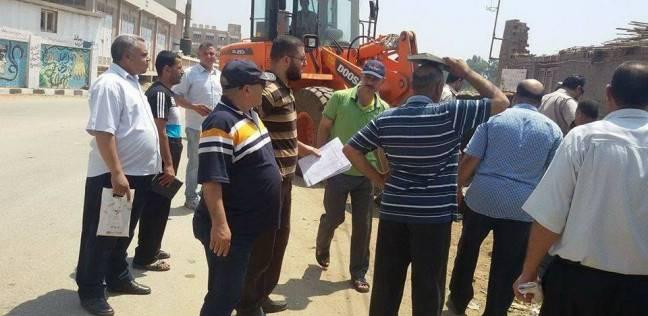 رئيس السنطة بالغربية يطالب المتعدين على أملاك الدولة بإزالة مخالفاتهم