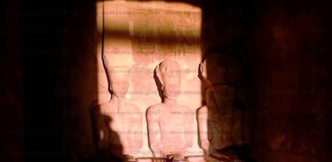 بدء فعاليات تعامد الشمس على وجه رمسيس الثاني في أبو سمبل بأسوان