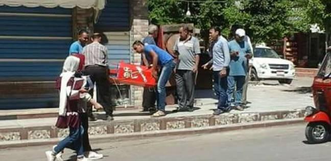 بالصور| ضبط 70 كيلوجرام أغذية فاسدة في حملة مكبرة بكفر سعد