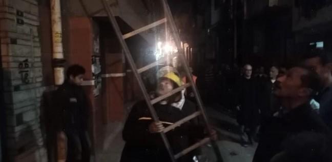 بالصور| انهيار 3 منازل في الدقهلية.. والحماية المدنية تنقذ مسنة