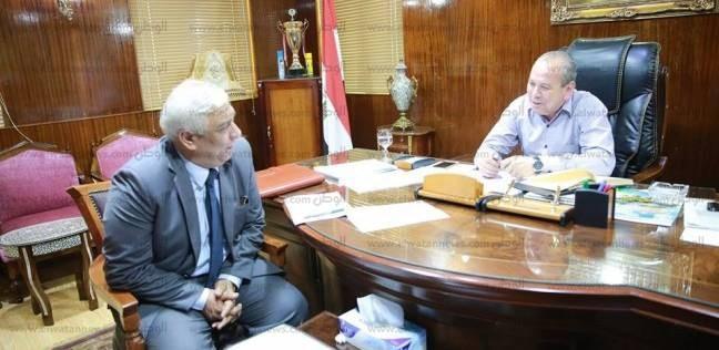 محافظ كفر الشيخ يبحث تطوير ميدان الإبراهيمي مع رئيس مدينة دسوق