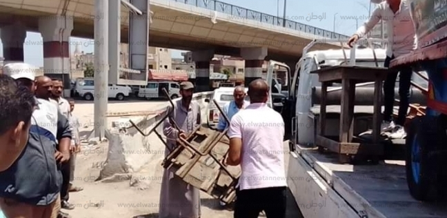 المحافظات   رفع 1346 حالة إشغال طريق في دمنهور بالبحيرة