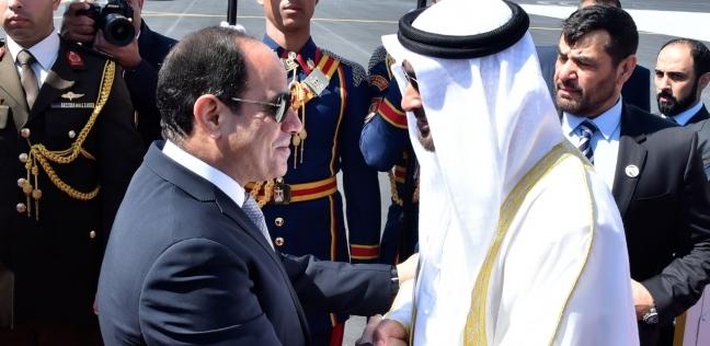 ولي عهد أبوظبي يصل إلى القاهرة للقاء الرئيس السيسي