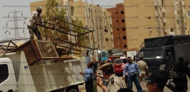 حملات مكثفة لإزالة التعديات بنطاق حي شرق بالإسكندرية