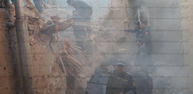 إصابة شخصين في انهيار جزئي لواجهة منزل بمدينة بني سويف
