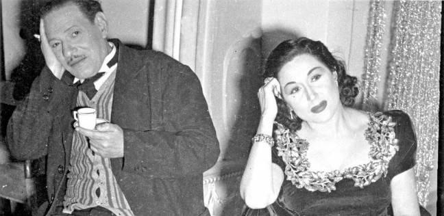 نجيب الريحاني مع ليلي مراد