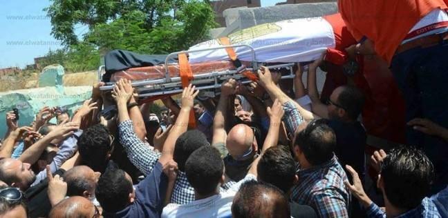 بالصور| الآلاف يشيعون جثمان الشهيد عبد المجيد الماحي بالغربية