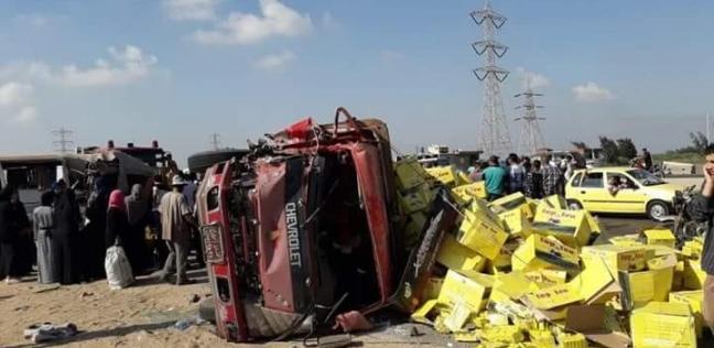 """مصرع شخصين وإصابة 8 مصابين في حادث بطريق """"قنا – نقادة"""""""