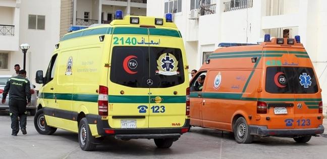 بالأسماء| إصابة 17 شخصا في حادث انقلاب سيارة ببني سويف