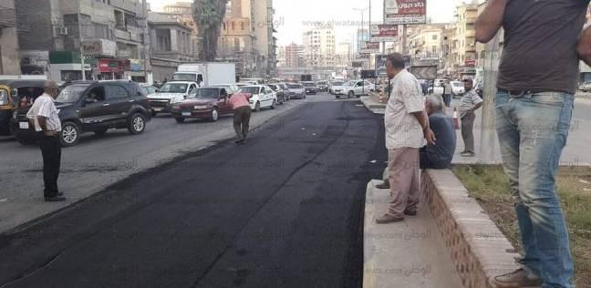 بالصور: الانتهاء من رصف وإنارة شارع البحر بالمحلة في الغربية