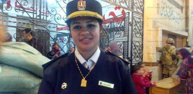 """نورا أول """"شرطية"""" نسائية في دمياط: تأمين اللجان الانتخابية أول عمل لي"""