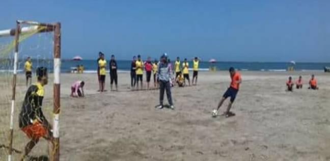 بدء بطولة الجمهورية للكرة الشاطئية بمدينة رأس البر