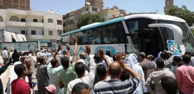 حجاج الجمعيات بشمال سيناء يغادرون إلى الأراضي المقدسة