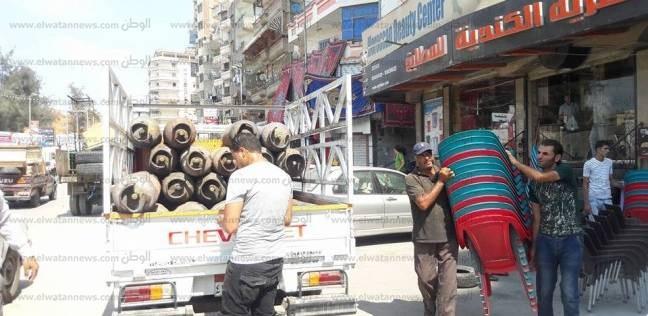 لليوم الرابع.. استكمال حملة إزالة الاشغالات في العامرية بالإسكندرية