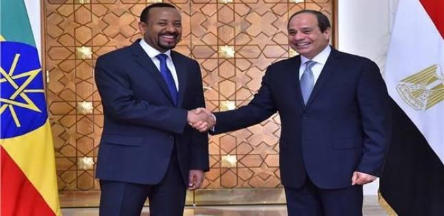 السيسي ورئيس وزراء إثيوبيا يشددان على التوصل لاتفاق بشأن سد النهضة