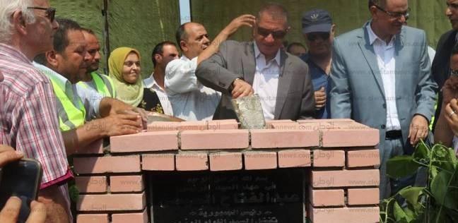 بالصور  محافظ كفرالشيخ يضع حجر أساس مشروع الصرف الصحي