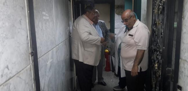 """رئيس """"الصرف الصحي"""" يطمئن على شبكات مستشفى منشية البكري"""
