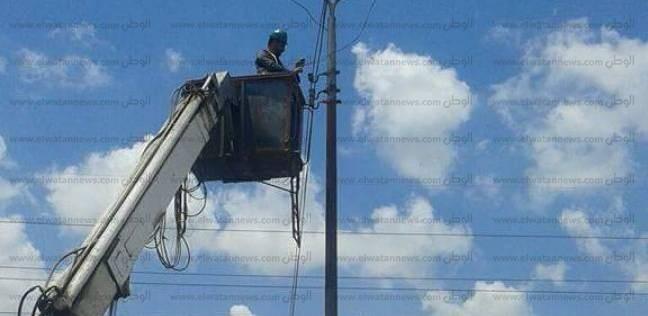صيانة أعمدة الإنارة في سموحة بالإسكندرية