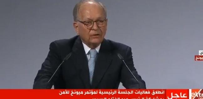 عاجل  انطلاق الجلسة الرئيسة لمؤتمر «ميونخ للأمن» بمشاركة السيسي