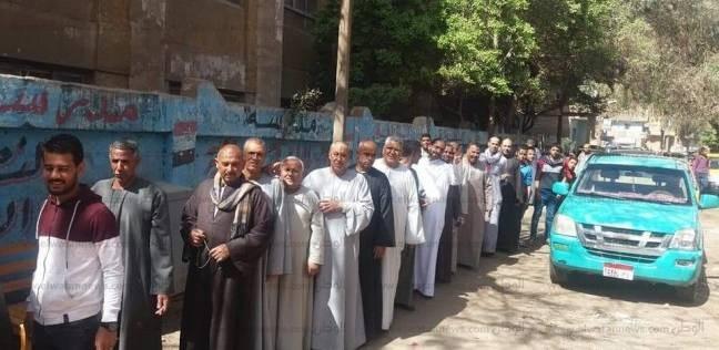 إقبال كبير من الناخبين على صناديق الاقتراع في الجيزة