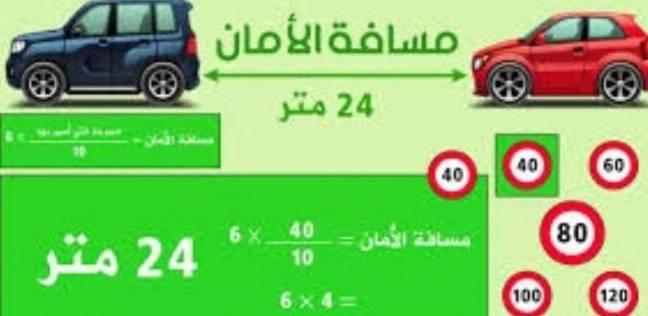 """إدارة المرور تطلق حملة لتوعية السائقين بـ""""مسافة أمان"""""""