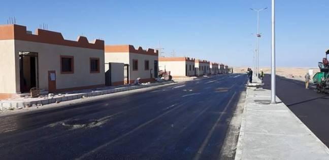 رئيس مدينة سفاجا يتفقد أعمال رصف مشروع تطوير العشوائيات